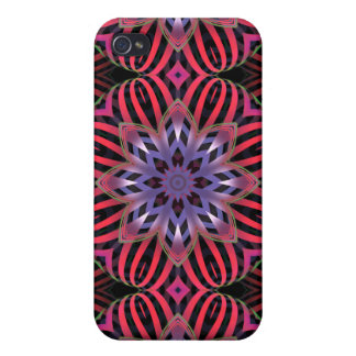 Striped flowers iPhone 4 covers