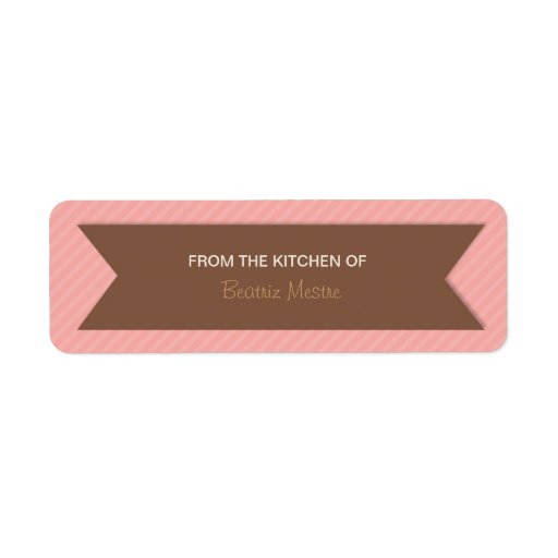 "Striped ""From the Kitchen of"" Custom Labels"