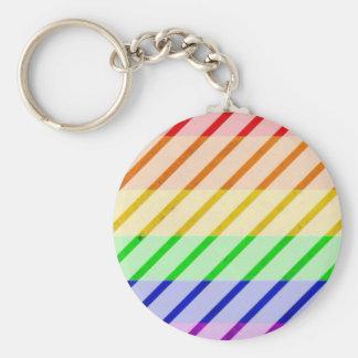 Striped Gay Pride Flag Key Chains