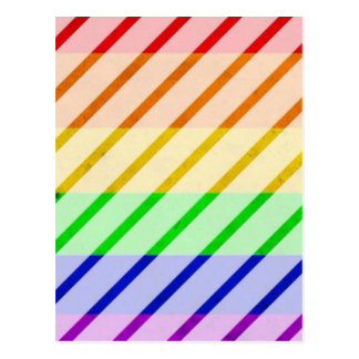 Striped Gay Pride Flag Postcard