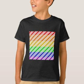 Striped Gay Pride Flag T-Shirt