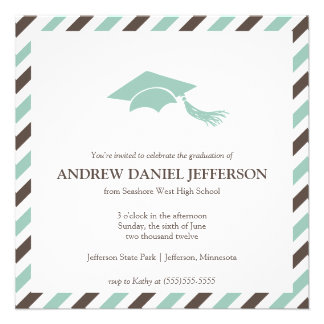 Striped Graduation Announcement Template