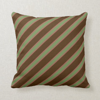 Pink Green And Brown Pillows - Decorative & Throw Pillows Zazzle