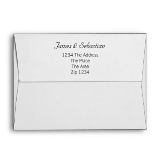 Striped Grey And Plain With Address Envelope
