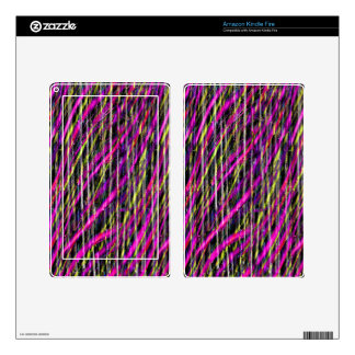 Striped Grunge Decal For Kindle Fire