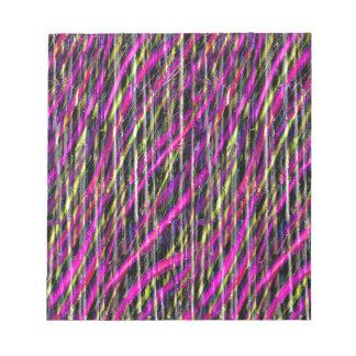 Striped Grunge Notepad