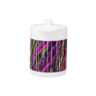 Striped Grunge Teapot