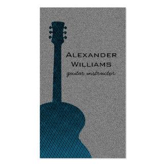 Striped Guitar Music Business Card, Blue Business Card