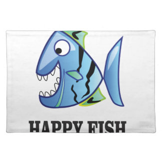 striped happy fish placemat