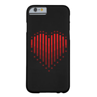 Striped Heart Barely There iPhone 6 Case