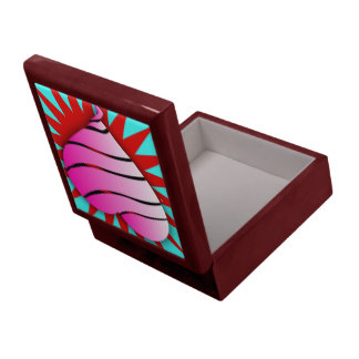 Striped heart gift box