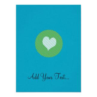 Striped heart Green Card