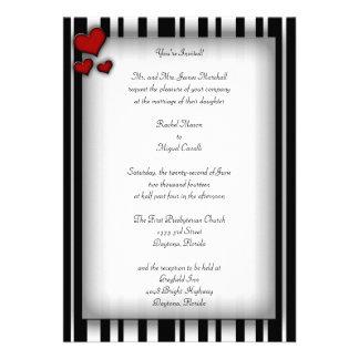 Striped Heart Invitations