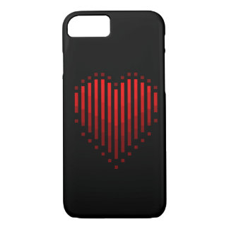 Striped Heart iPhone 7 Case