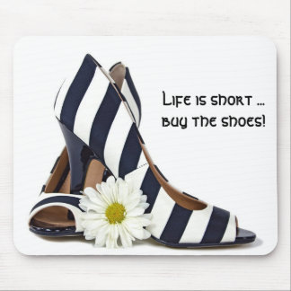 Striped High Heels Mouse Pad