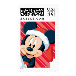 Striped Holiday Mickey Stamp