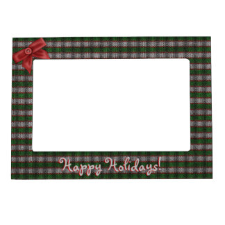 Striped Holiday Ribknit Magnetic Frame