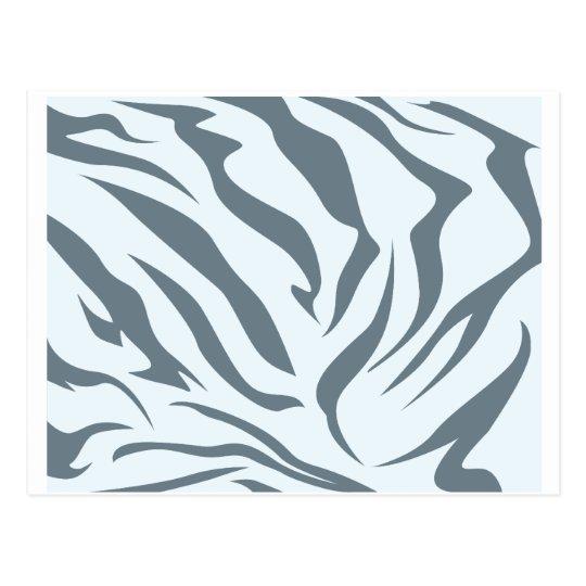 Striped Hyena Skin Pattern Postcard
