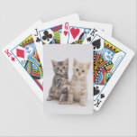 "Striped Kittens Cat Playing Cards<br><div class=""desc"">These two kittens make the perfect pair.  Sure to bring a smile or two to your next card game.</div>"