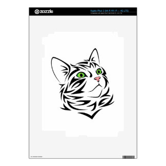 Striped Kitty Cat 1 Decals For iPad 3