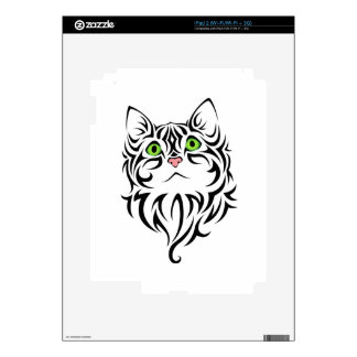 Striped Kitty Cat 2 Skins For iPad 2