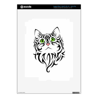 Striped Kitty Cat 2 Decals For iPad 3
