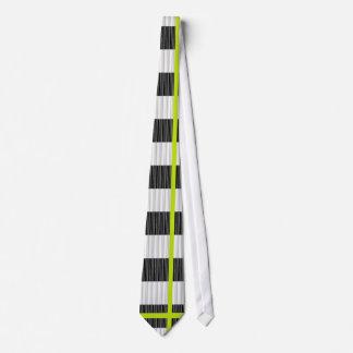 striped knit look tie