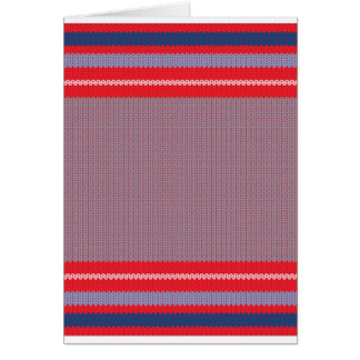 Striped Knitting Background 2 Card