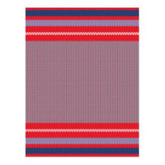 Striped Knitting Background 2 Postcard