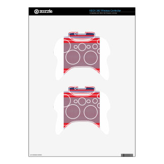 Striped Knitting Background 2 Xbox 360 Controller Decal