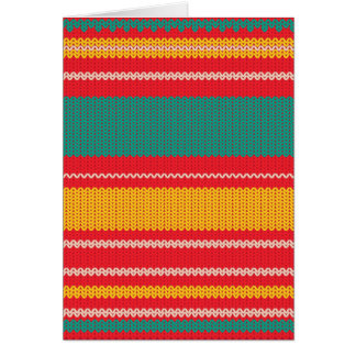 Striped Knitting Background Card