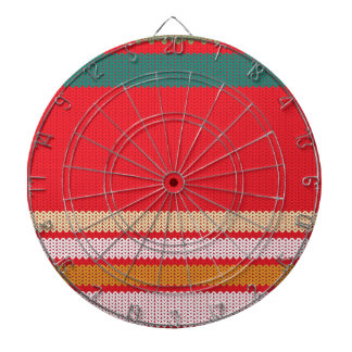 Striped Knitting Background Dart Boards