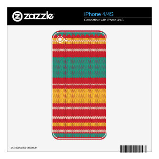 Striped Knitting Background iPhone 4S Skin