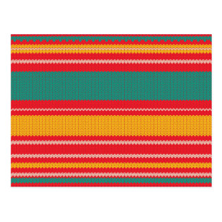 Striped Knitting Background Postcard