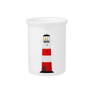 Striped Lighthouse Drink Pitcher