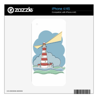 Striped Lighthouse iPhone 4 Skins