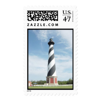Striped Lighthouse Postage Stamp
