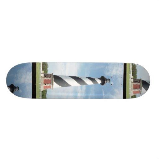 Striped Lighthouse Skateboard