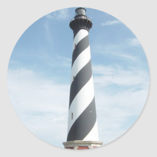 Striped Lighthouse Stickers