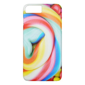 Striped Lollipop And Multicolored Smarties iPhone 8 Plus/7 Plus Case