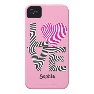 Striped Love iPhone 4 Cases