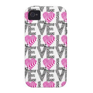 Striped Love iPhone 4 Case