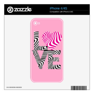 Striped Love Skin For iPhone 4S