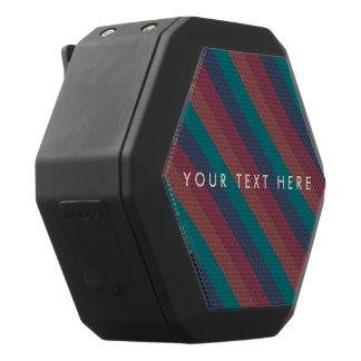 Striped Marsala, Teal, Berry & Blue Custom Black Bluetooth Speaker