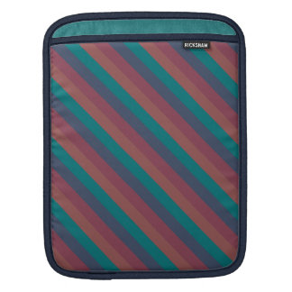 Striped Marsala, Teal, Berry & Blue Custom Sleeves For iPads