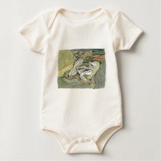 Striped Marsh Frog Baby Bodysuit
