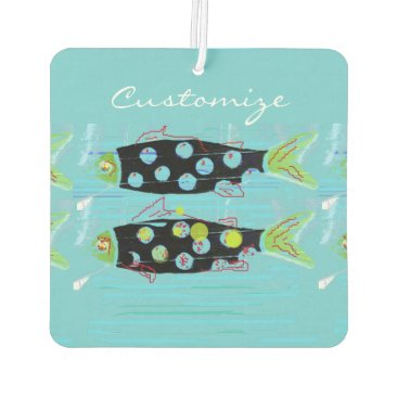 Beach Themed striped migrating fish any color Thunder_Cove Air Freshener
