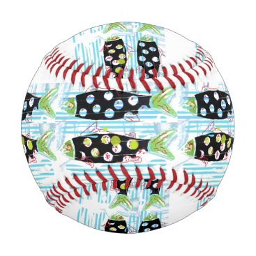 Beach Themed striped migrating fish any color Thunder_Cove Baseball