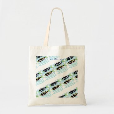 Beach Themed striped migrating fish any color Thunder_Cove Tote Bag