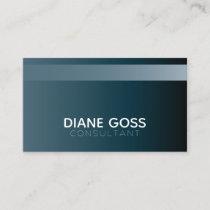 Striped Modern Stylish Navy Blue Business Card